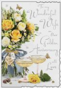 Wonderful Wife Golden Wedding Anniversary Card